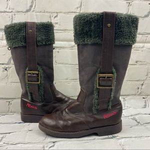 Mexx girls faux fur lined and trimmed boots